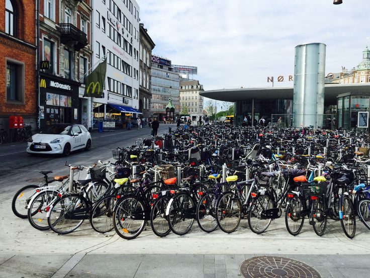 Bike parking in Copenhagen