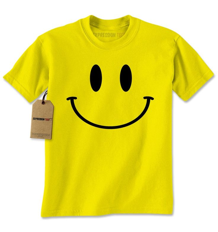 - Are you all smiles? Grab our smiley face emoji tops today! - Don't worry, be happy and put on a happy face (literally) Description Expression Tees brings you yet another amazing design - Big Smiley