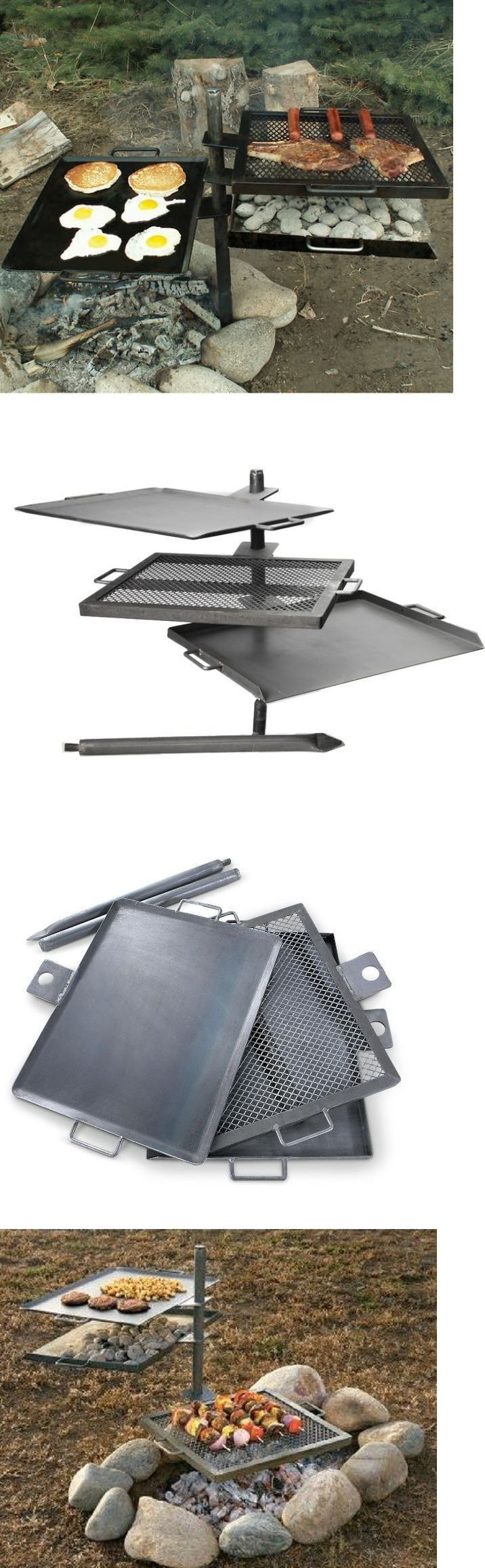 Camping Cookware 87141: Campfire Grill Camping Gear Cooking Camp Kitchen Pit Portable Outdoor Griddle -> BUY IT NOW ONLY: $149.95 on eBay!