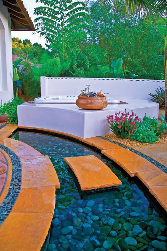 Patio Ideas Backyard Hardscape Hot Tub Designs Hot