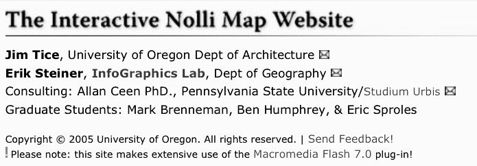 Interactive Nolli Map from httpnolliuoregonedu GIAMBATTISTA