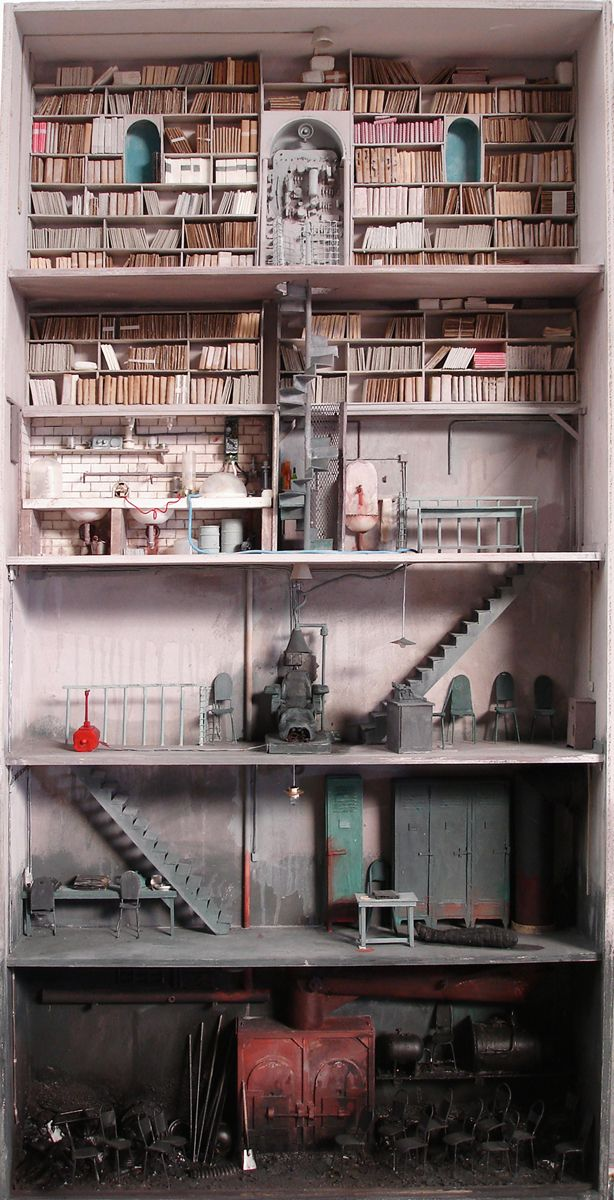 abandoned/ post-apoc dollhouses by French artist Marc Giai-Miniet
