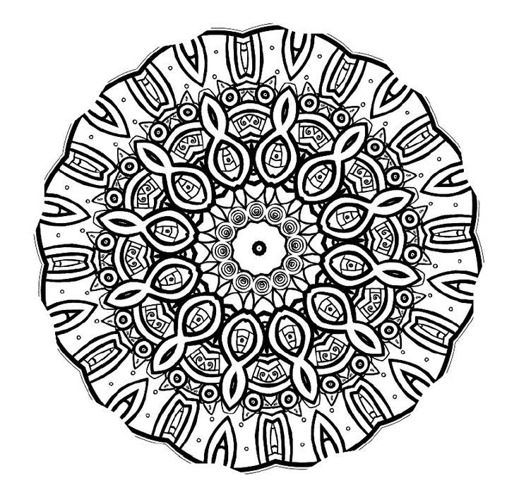 29 printable mandala abstract colouring pages for meditation stress