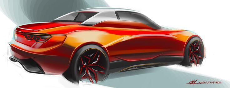 Honda S20'02 maybe.. #cardesign, #design, #automotivedesign, #transportdesign, #vehicledesign, #cardrawing, #sketch, #carsketch, #art, #wheels, #photoshop, #honda, #roadster, #red