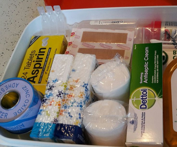 detailed first aid kit!
