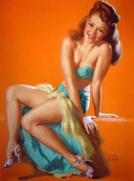 Earl Moran with Marilyn Monroe posing