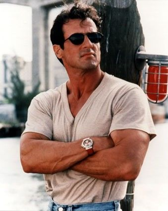 sly stallone; you have to admit,  he's still hot!  Love him in Rocky 1-4  Rambo series.  And Expendables