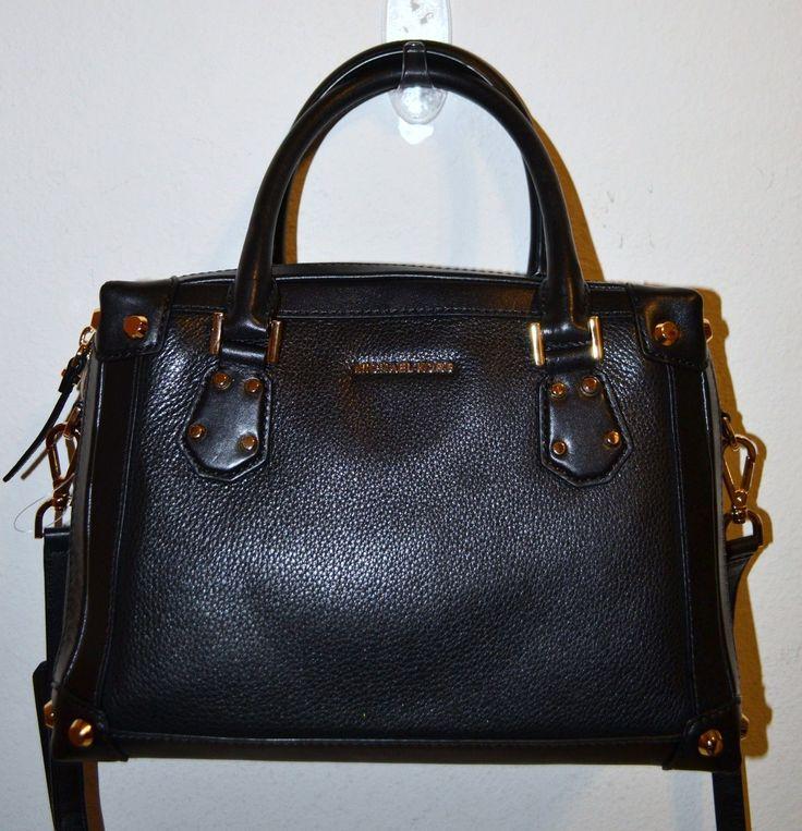 NWT Michael Kors Black Medium Taryn Leather S...