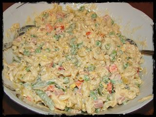 Olga's cuisine...και καλή σας όρεξη!!!: Μακαρονοσαλάτα με ανάμεικτα λαχανικά
