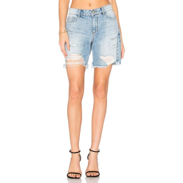 Siwy Valetta Bermuda (218 AUD) ❤ liked on Polyvore featuring shorts, jean shorts, distressed bermuda shorts, destroyed bermuda shorts, cotton shorts, ripped bermuda shorts and ripped jean shorts
