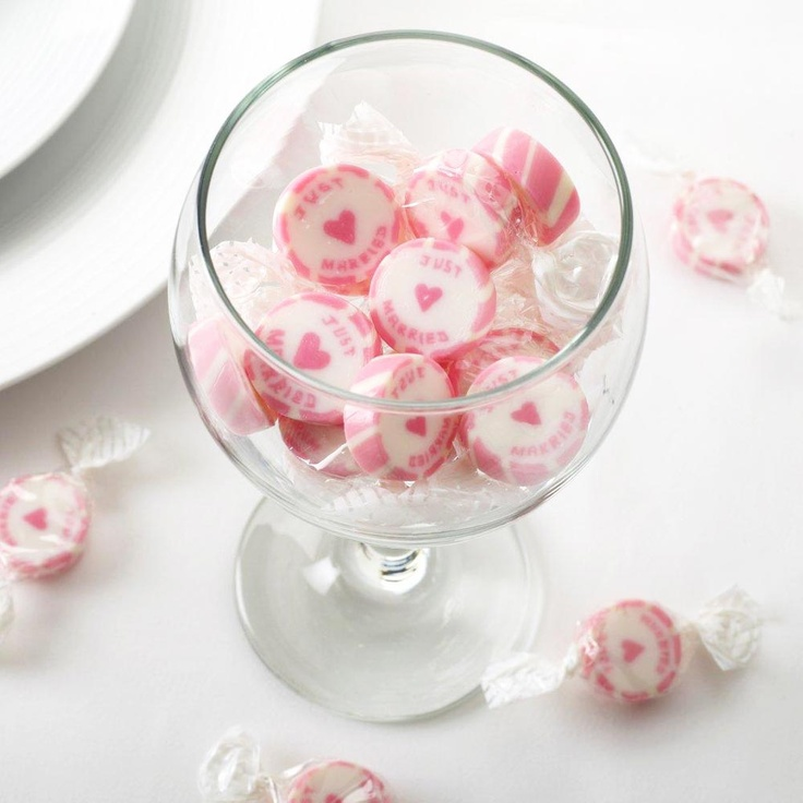 Pink Just Married Rock Sweets - 300g