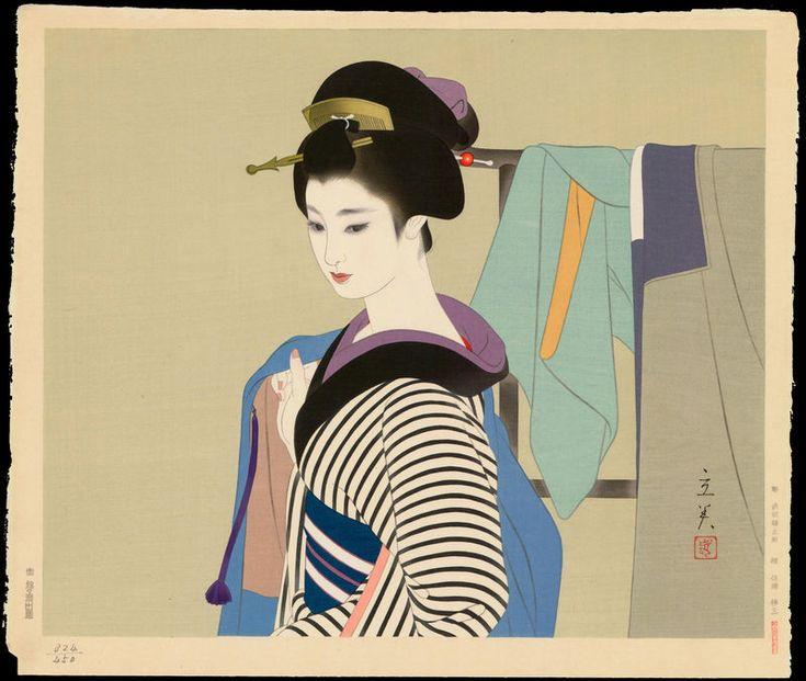Shimura Tatsumi 志村立美 (1907-1980) | Tatsumi, Shimura (1907-1980) - Haori - は ...