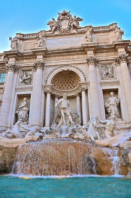 Trevi Fountain, Rome. #travel