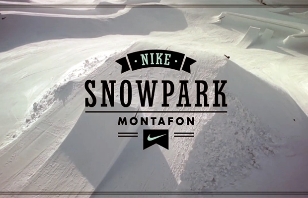 For the first time in history, Nike is building a one off snowpark, actually it's more like a winter wonderland that might resemble heaven for snowboarder, at Montafon! When this incredible snowpark is completely finished it will offer a total of 40 features that will accommodate riders of all skill levels.