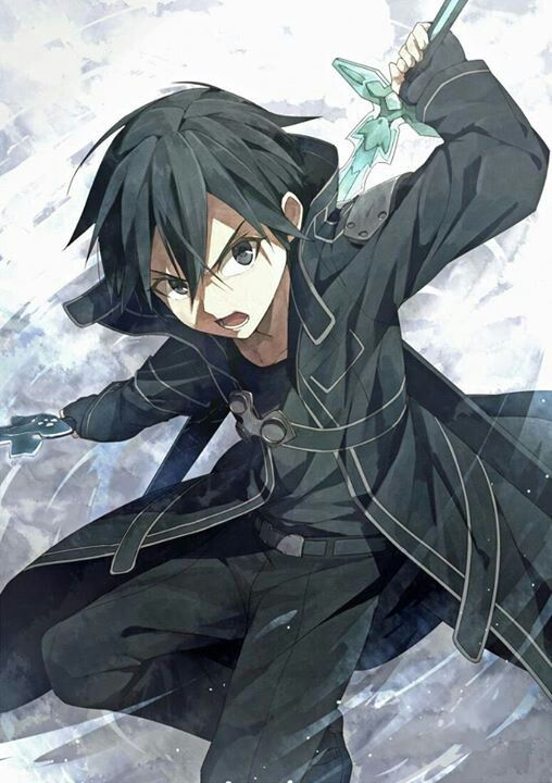 S.A.O   solo - player - kirito   i love the fact he start out strong making the whole anime more relaistic.