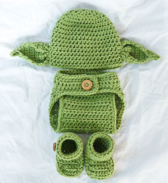 Yoda Beanie Newborn 0-3 months Star Wars Photo Prop 4 Pc SET on Etsy, $45.00