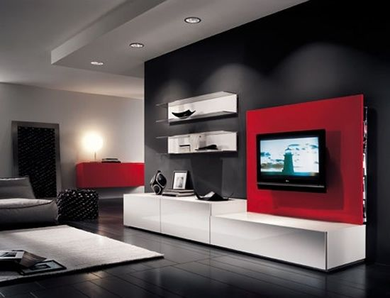 The Coming Of LCD TV Has Completed The Look Of Modern Living Room Design.  Modern Living Room With LCD TV Is Much Applied Right Now.