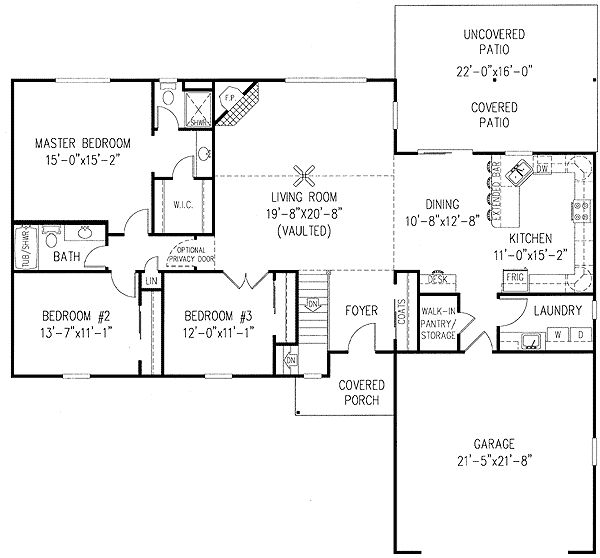 One story house plans with open concept house plan for Single story open concept floor plans