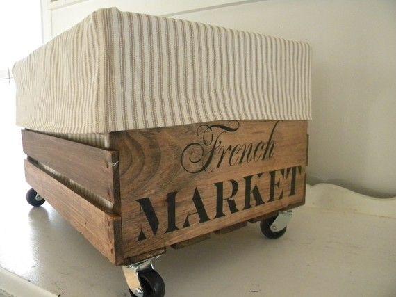 repurposed crate storage