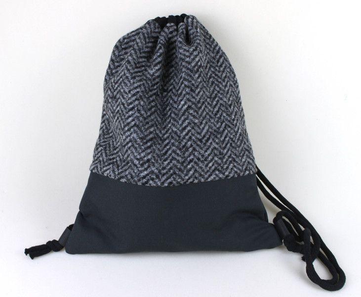 Rucksäcke - Turnbeutel Rucksack backpack Fischgrät kuschelig - ein Designerstück von lucieandcate bei DaWanda