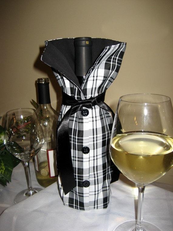 Plaid Wine Bag
