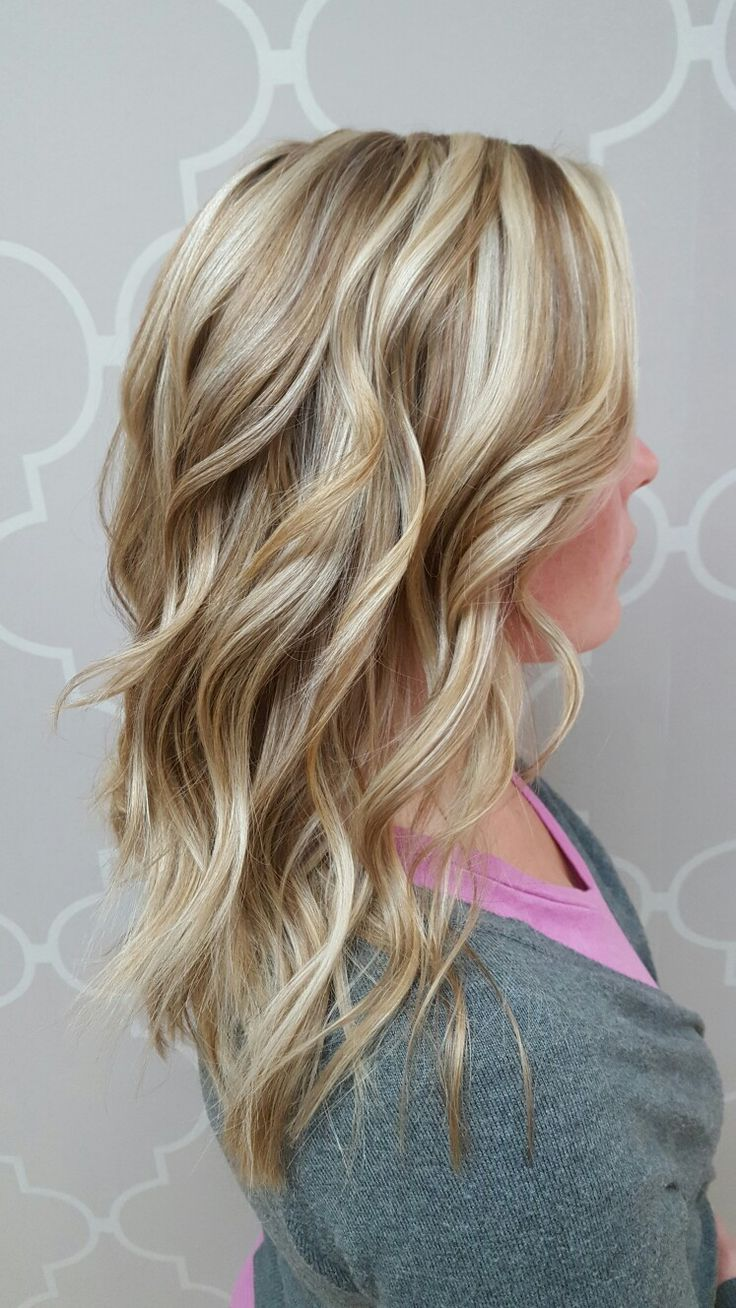 Cool blonde with low lights and layers!