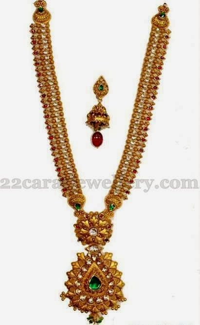 Jewellery Designs: Antique Haar by RK Jewellers