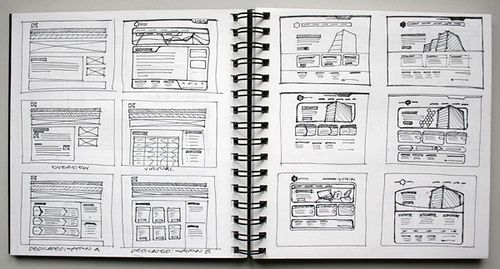 Wireframe Sketch  - HostHead | by Cristian Bosch