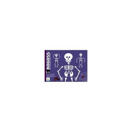 """DJECO Настольная игра """"Богос"""", DJECO  — 1489 руб.  —  Детская карточная игра Богос. Колода состоит из 44 фосфоресцентных карт, 30 карт """"скелет"""" (с зелёным кружочком), 12 """"сломанный скелет"""" (с красным кружочком) и 2 карты """"джокер"""". Игроки получают по 6 карт, и используя карты соперников пытаются собрать скелет (целый или сломанный) из 6 карт. Для победы необходимо собрать два целых или один """"сломанный"""" скелет. Карты светятся в темноте позволяя создать мистический антураж. Можно играть в…"""