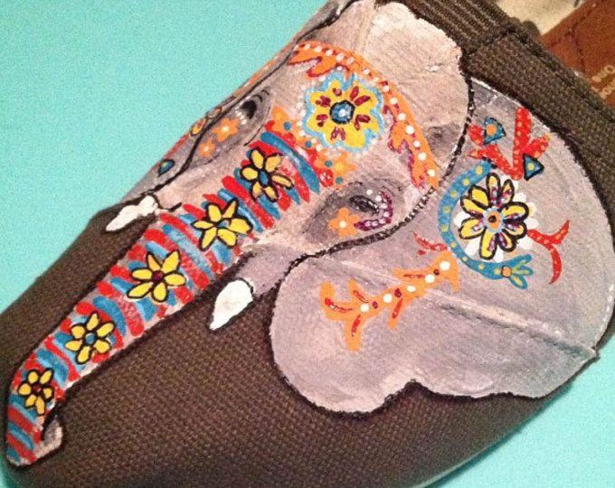 Indische olifant aangepaste handgeschilderde Toms schoenen