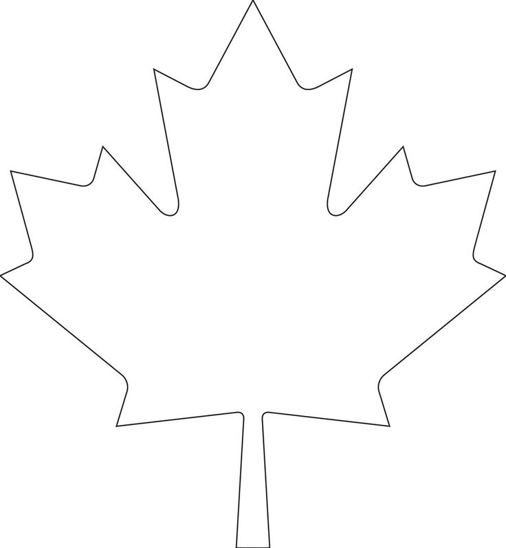 Downloadable maple leaf template for your Canada Day crafts
