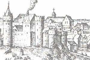 Le château de Tours a été construit par Henri II Plantagenet vers 1160. Le château a été en bonne partie détruit à la fin du XVIIIème siècle, il n'en reste que ses fondations.