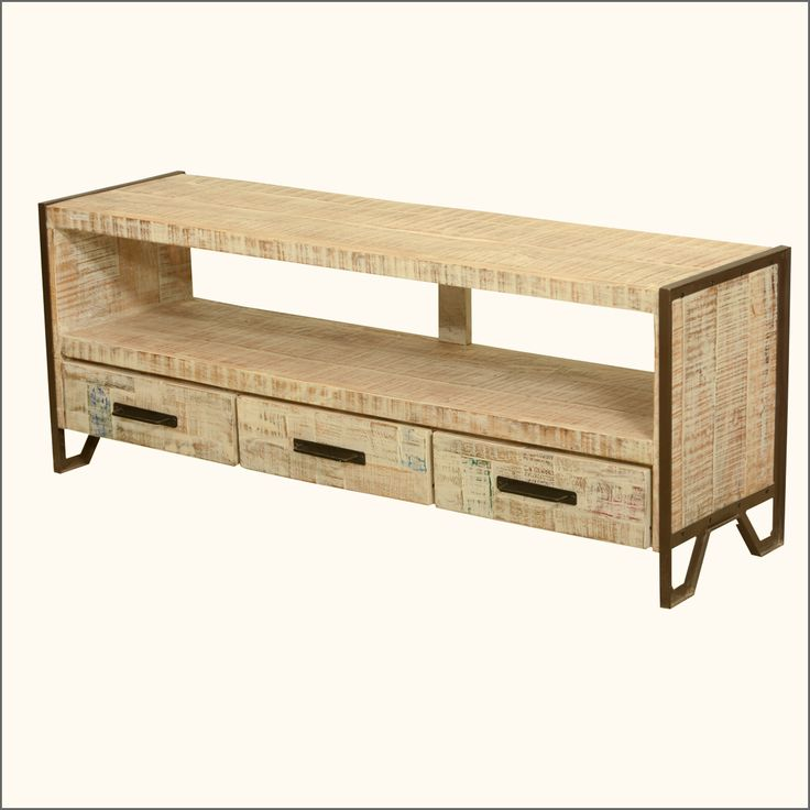 industrial fusion iron u0026 reclaimed wood rustic media console