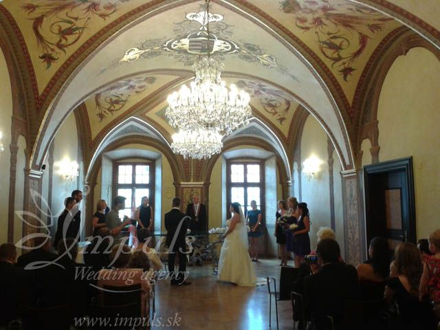 #Summer #wedding in Banska Bystrica, #Slovakia, August 2014. Gorgeos BB town hall, nice small venue in historical house in the centre, beautiful Bride from far Canada, tasty meals and delicious Candy bar in violet. Tropical weather and great atmosphere didn´t let us sleep :).