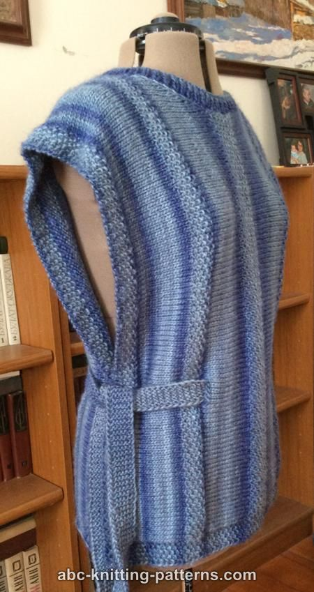 ABC Knitting Patterns - Renaissance Woman Side-Slit Tunic