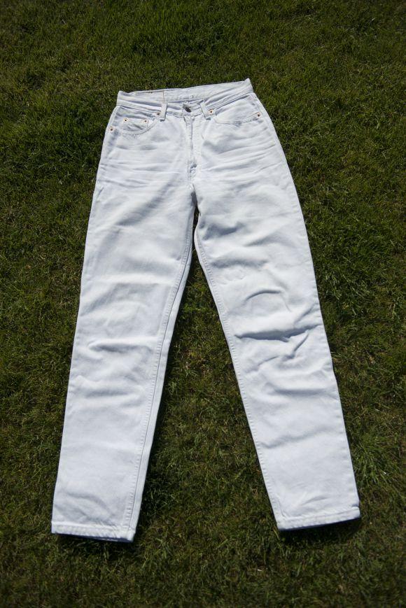 DIY Short Sandía (los pantalones largos que corté para hacer los shorts)