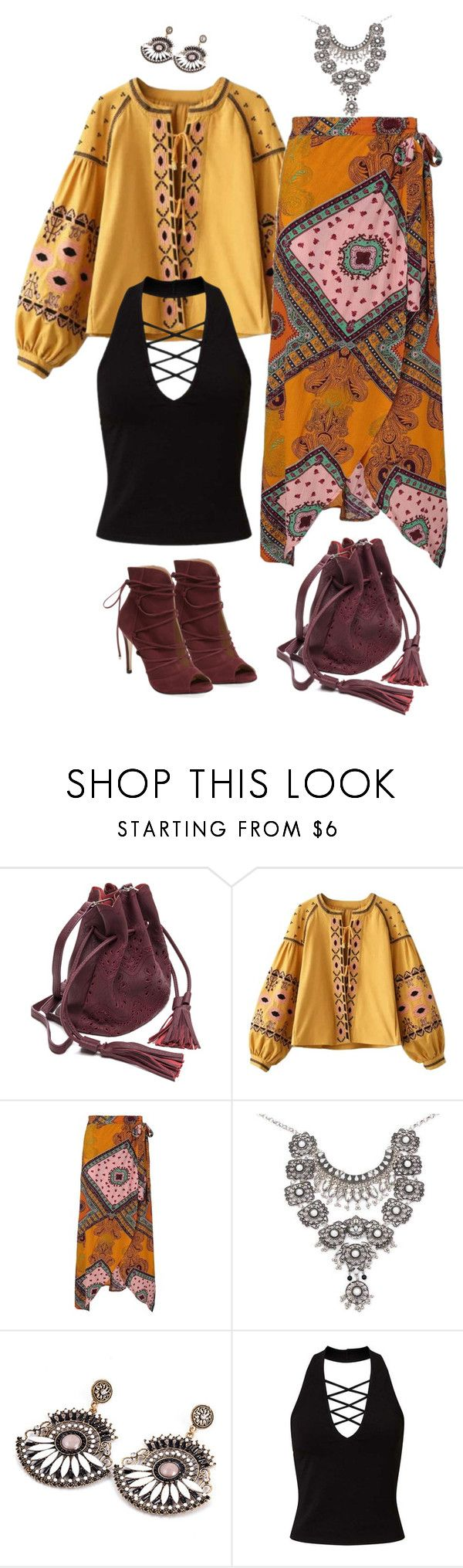 """""""Bohemian Autumn"""" by ms-ironickel ❤ liked on Polyvore featuring Miss Selfridge and Elorie"""