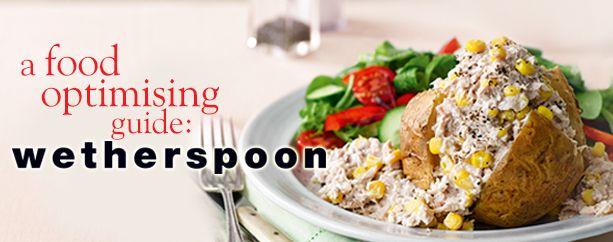 A Food Optimising guide: J D Wetherspoon