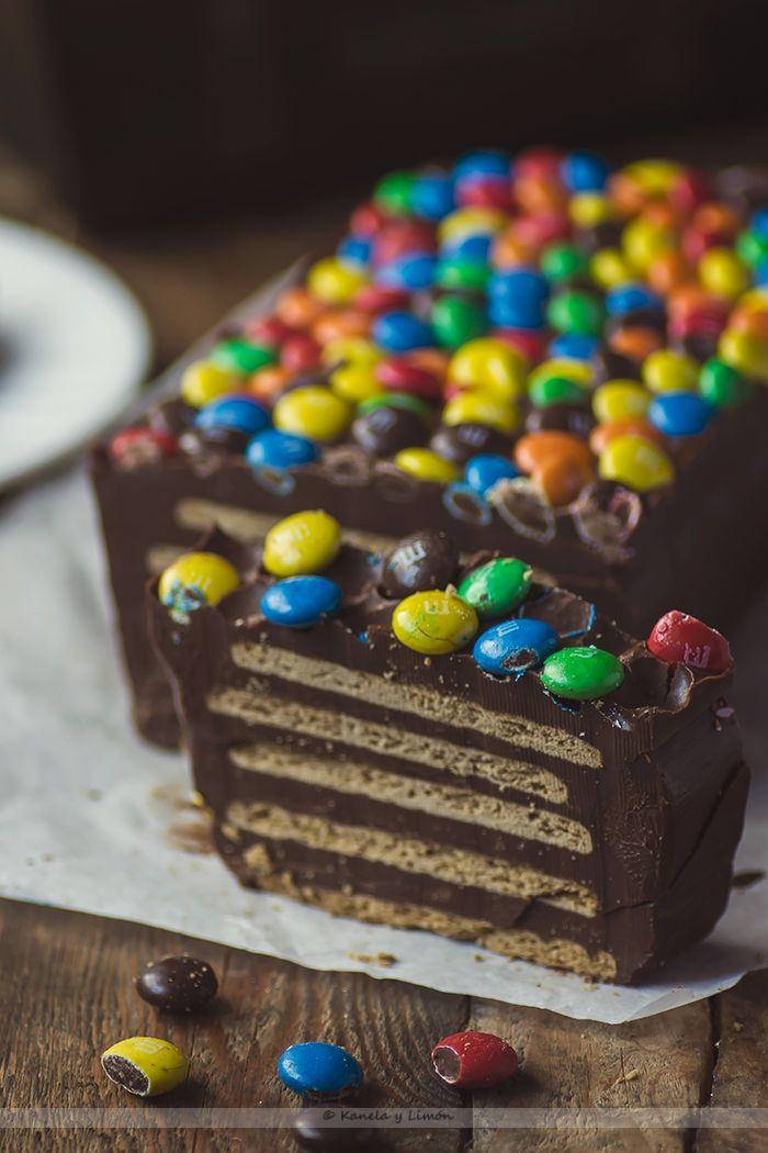 Kanela y Limón: Pastel de galletas y chocolate (Sin horno)
