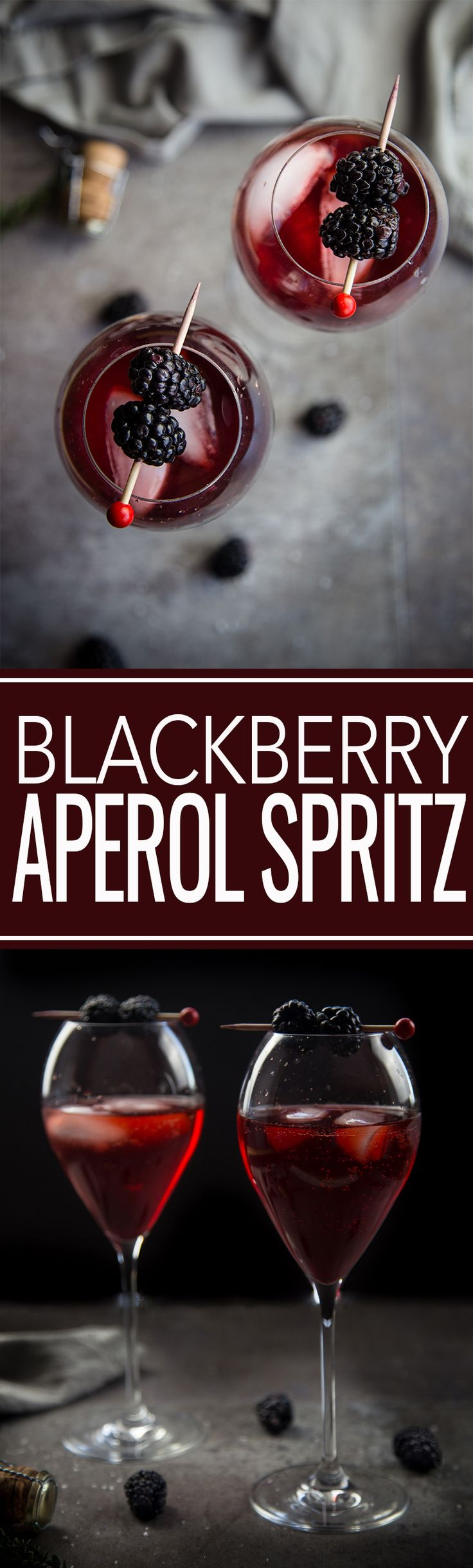 A twist on a classic Aperol Spritz inspired by the Pacific Northwest. Blackberry Aperol Spritz Cocktail, made with blackberry simple syrup. Absolutely gorgeous, refreshing, and elegant. #cocktails #aperolspritz