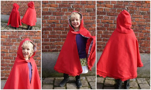 Roodkapje en draken cape                             little red riding hood cape and dragon cape