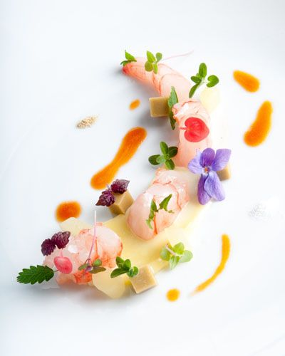 Doctor Gourmeta provoca lo chef Enrico Crippa del ristorante Piazza Duomo ad Alba. Tra i ristoranti ad Alba, ecco fiori commestibili e alta cucina moderna.