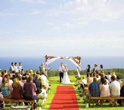 Enjoy the sea breeze as you say your vows on The Grass Terrace. Incredible views 💕