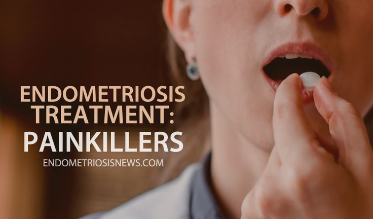 Read more about endometriosis treatment and painkillers.