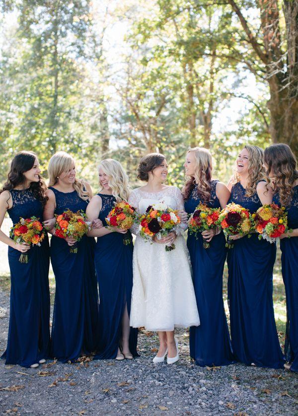 Navy bridesmaid dresses | Ais Portraits