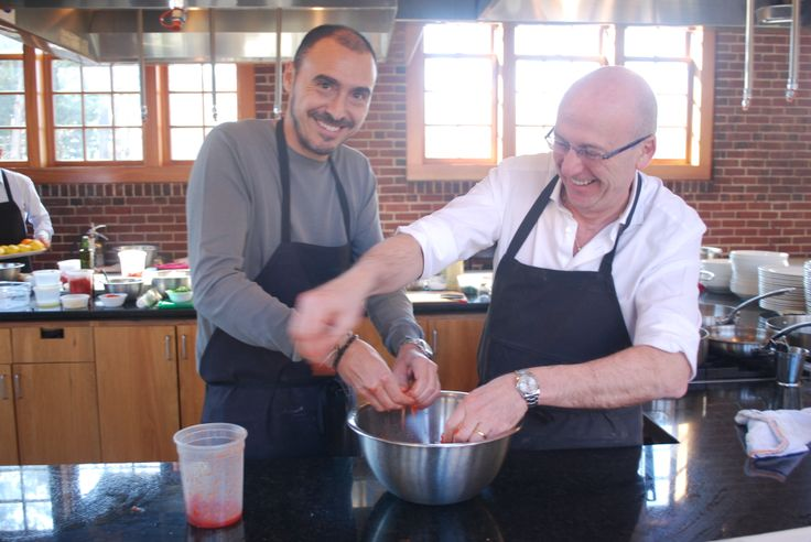 General and Owner of the Hotel Byron, Salvatore Madonna gets cooking with General Manager of the Grand Hotel Villa Cora, Claudio Delli. #HotelByron #VillaCora