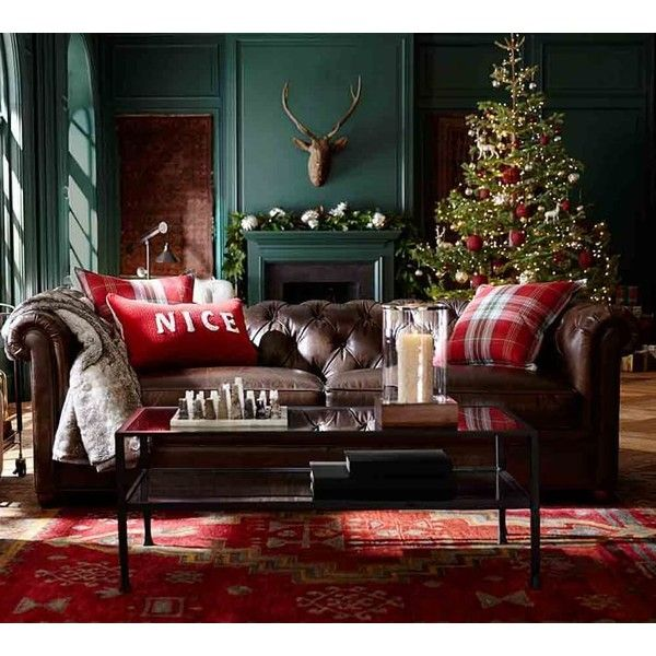 pottery barn leather sofa liked on polyvore featuring home furniture