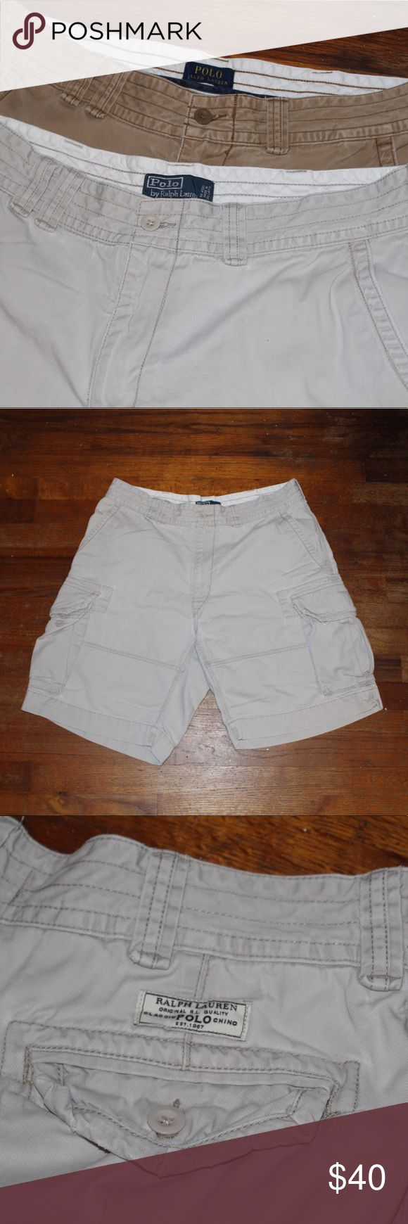 Polo Ralph Lauren Essential Cargo Shorts Bundle Great condition 9/10 on both  Fit true to size  All sales final. Please contact with any questions or offers! Polo by Ralph Lauren Shorts Cargo