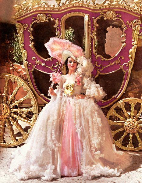 "Color shot of Dolores Del Rio in ""Madame Dubarry"" (1934)"