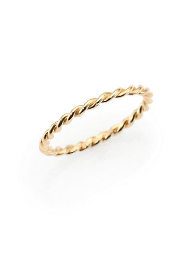 gold twisted band ring / jacquie aiche